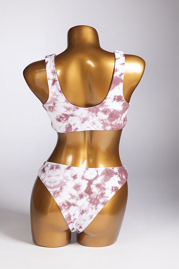 Lovely Knot Design White Two-piece Swimsuit