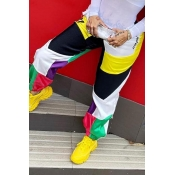 Lovely Casual Patchwork Multicolor Pants