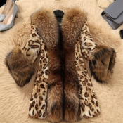 Lovely Casual Patchwork Leopard Printed Coat