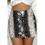 Lovely Trendy Print Black Mini Skirt