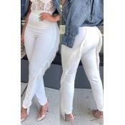 Lovely Trendy Tassel Design White Pants