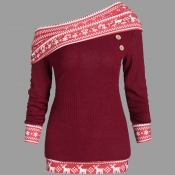 Lovely Casual Patchwork Red Plus Size Blouse