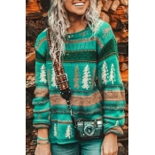 Lovely Patchwork Green Sweater