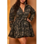 Lovely Trendy Camo Print Coat