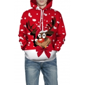 Lovely Casual Wapiti Red Hoodie