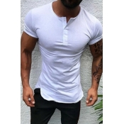 Lovely Casual Basic White T-shirt