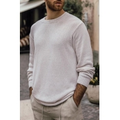 Lovely Casual Basic Beige Sweater