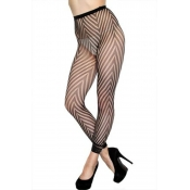 Lovely Sexy Striped Black Bodystocking