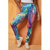 Lovely Casual Print Multicolor Leggings
