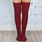 Lovely Chic Winter Red Long Socks