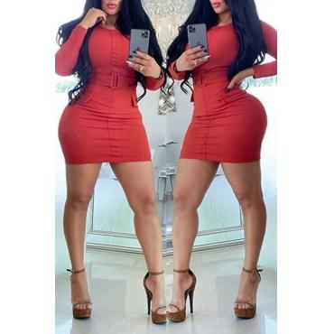Lovely Chic Skinny Red Mini Dress