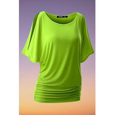Lovely Casual Basic Green Plus Size T-shirt