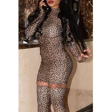 Lovely Chic Leopard Mini Dress