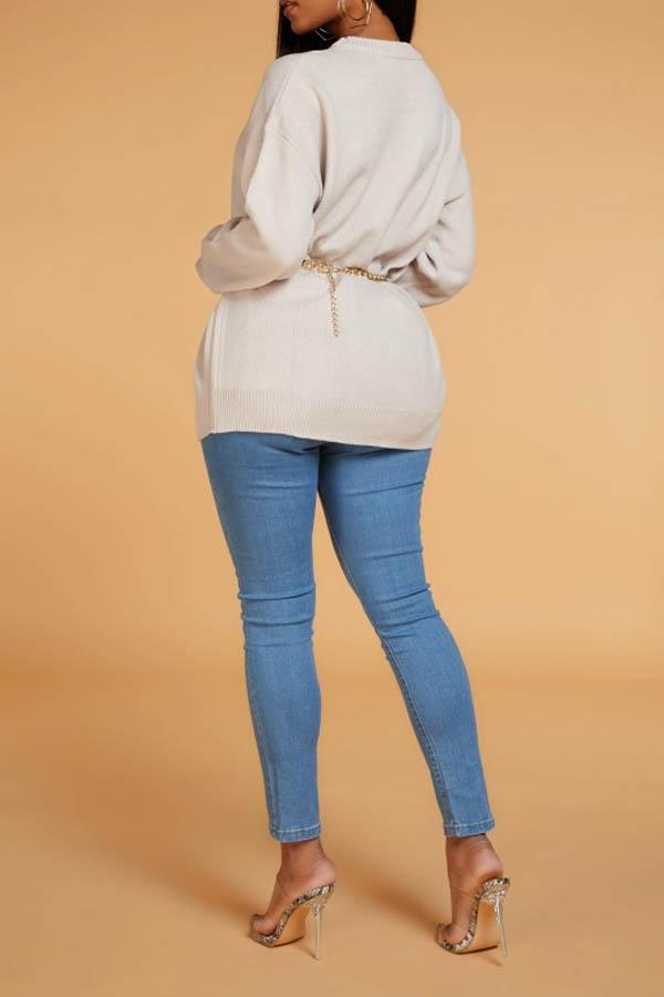 Lovely Chic Basic Beige Sweater