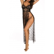 Lovely Sexy Lace See-through Black Gowns