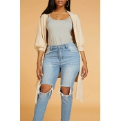 Lovely Chic Loose Apricot Cardigan