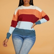 Lovely Casual Striped Multicolor Sweater
