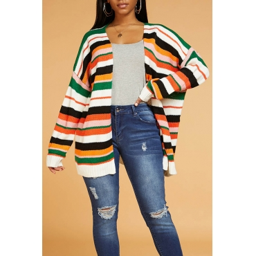 Lovely Chic Striped Multicolor Cardigan
