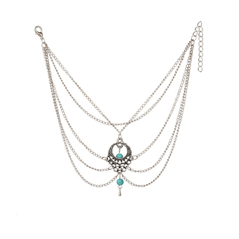 Lovely Chic Hollow-out Patchwork Silver Body Chain