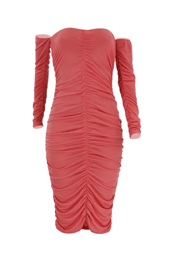Lovely Chic Fold Design Rose Prom Dress