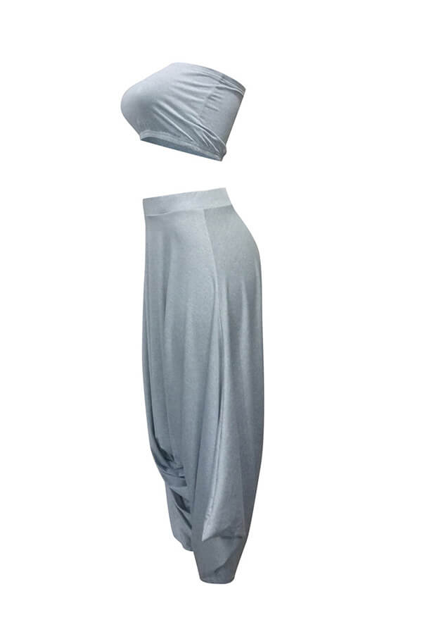 Lovely Casual Loose Grey Two-piece Pants Set