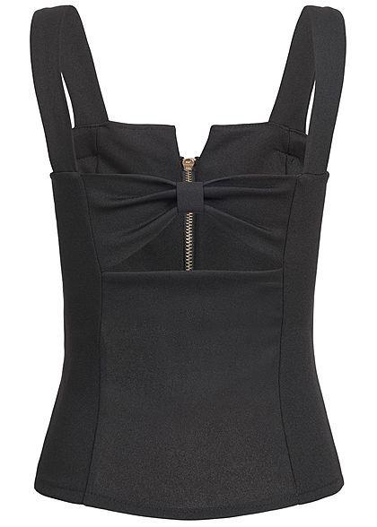 Lovely Trendy Spaghetti Strap Basic Black Plus Size Camisole