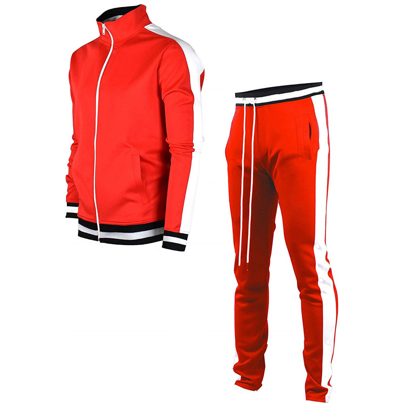 Lovely Sportswear Patchwork Red Two-piece Pants Set