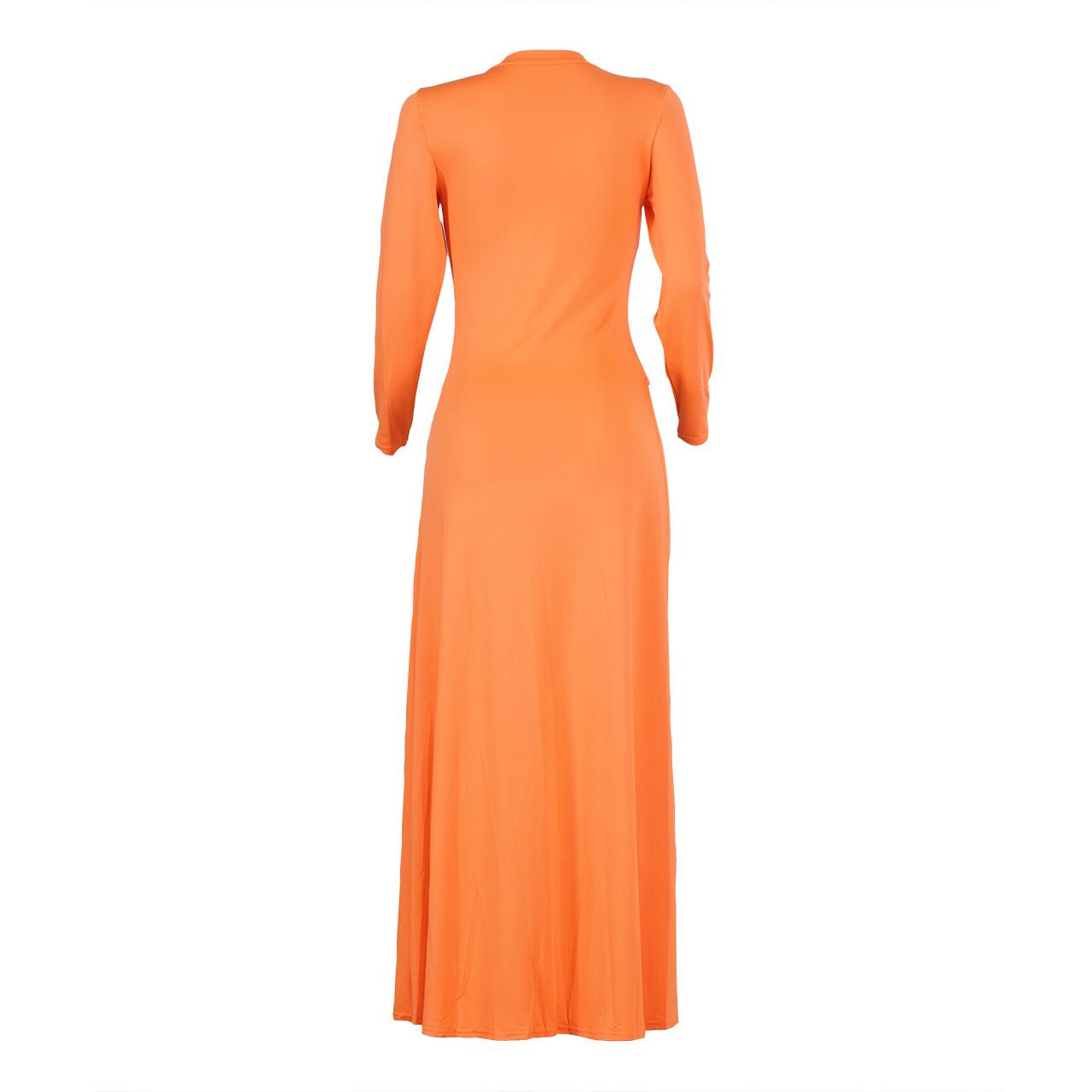 Lovely Casual Irregularity Orange Blouse