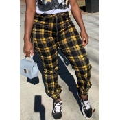Lovely Trendy Print Yellow Pants