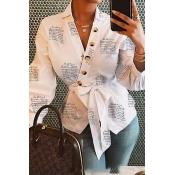 Lovely Stylish Button Design White Blouse