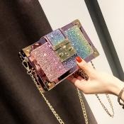 Lovely Chic Patchwork Gold Crossbody Bag