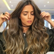 Lovely Leisure Curly Long Brown Wigs