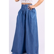 Lovely Casual Loose Deep Blue Jeans