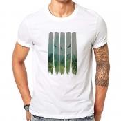 Lovely Casual Basic Print White T-shirt