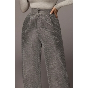 Lovely Sexy Loose Silver Pants