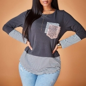 Lovely Patchwork Grey T-shirt