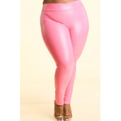Lovely Sexy Skinny Pink Plus Size Pants