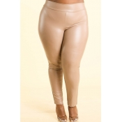 Lovely Sexy Skinny Skin Color Plus Size Pants