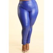 Lovely Sexy Skinny Blue Plus Size Pants