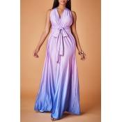 Lovely Trendy Loose Purple Evening Dress