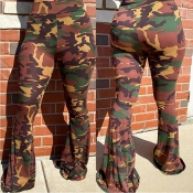 Lovely Trendy Camo Print Pants