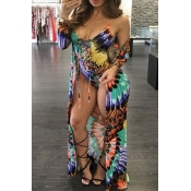 Lovely Casual Print Plus Size Two-piece Shorts Set