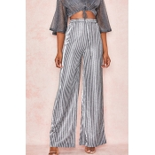 Lovely Chic Striped Silver Pants