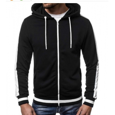 Lovely Casual Hooded Collar Black Hoodie