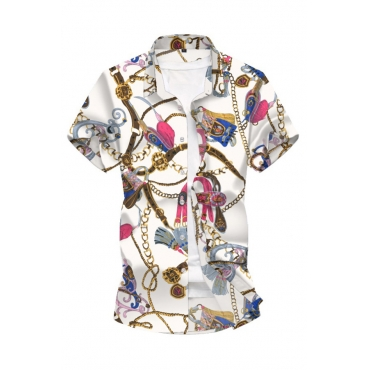 Lovely Bohemian Print White Shirt