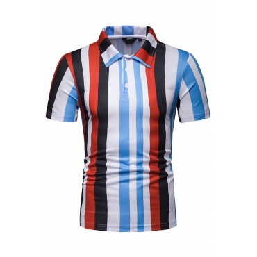 Lovely Casual Striped Red Shirt