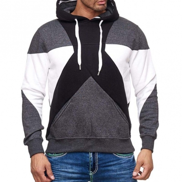 Lovely Casual Hooded Collar Dark Grey Hoodie