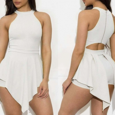 Lovely Work Hollow-out White One-piece Romper