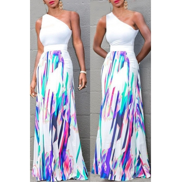 Lovely Casual Print Multicolor Maxi Skirt