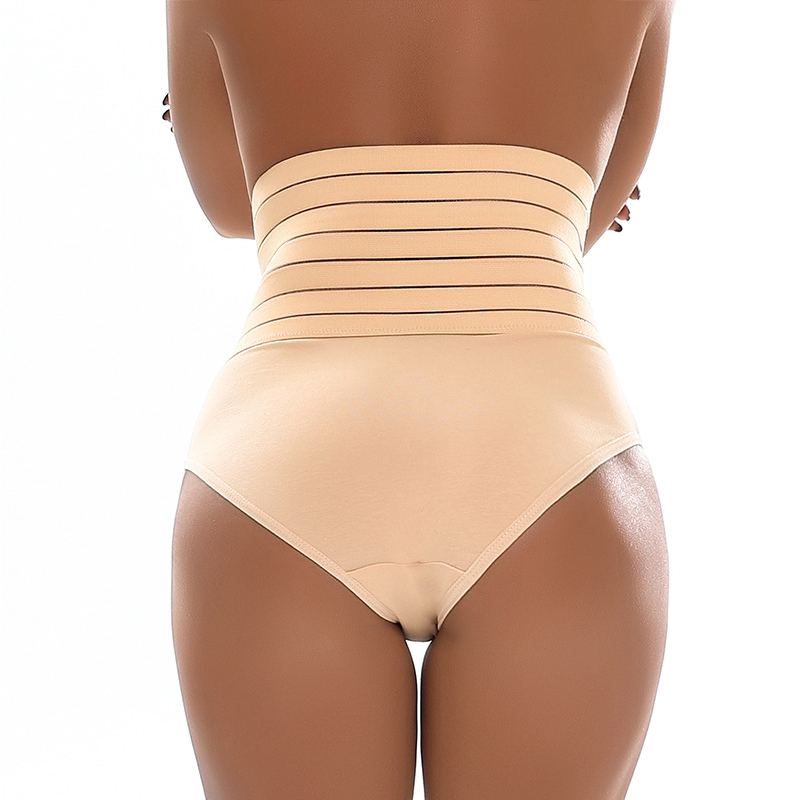 Lovely Leisure Striped Skin Color Panties